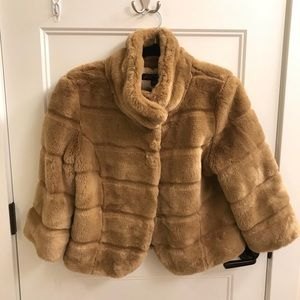 ABS Luxury Collection Faux Fur Tan Coat